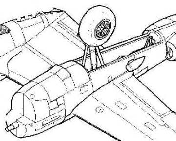 P-38J - Fahrwerks Set · CMK 72092 ·  CMK · 1:72
