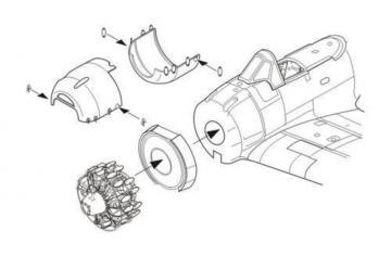 A6M3 model 32 Zero - Engine set · CMK 7265 ·  CMK · 1:72