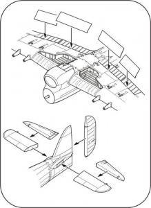 Typhoon Mk.I - Control surfaces set [Airfix] · CMK 7280 ·  CMK · 1:72