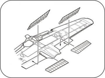 A6M5 Zero - Control surfaces set [Tamiya] · CMK 7284 ·  CMK · 1:72