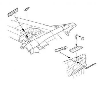 P-40B - Undercarriage set [Airfix] · CMK 7297 ·  CMK · 1:72