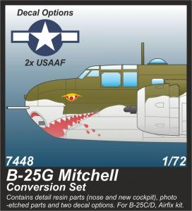 B-25G Mitchell - 75 mm Gun Nose Conversion Set · CMK 7448 ·  CMK · 1:72