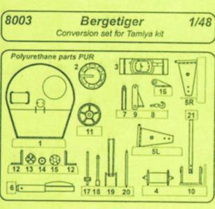 Bergetiger - Conversion set [Tamiya] · CMK 8003 ·  CMK · 1:48