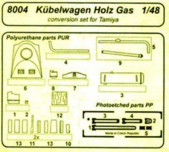 Kübelwagen Holzgas [Tamiya] · CMK 8004 ·  CMK · 1:48