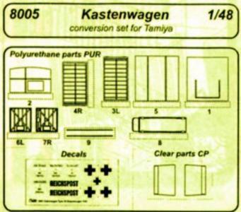 Kübelwagen Typ 21 Kastenwagen [Tamiya] · CMK 8005 ·  CMK · 1:48