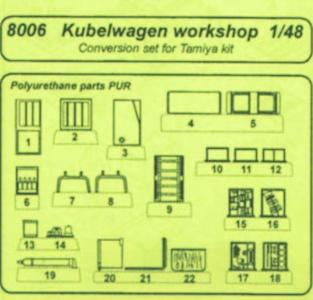 Kübelwagen - Conversion set [Tamiya] · CMK 8006 ·  CMK · 1:48
