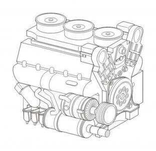Maybach HL230 P45 - WWII German tank engine · CMK 8044 ·  CMK · 1:48