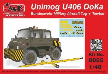 Unimog U406 DoKa Military Airport Tug + Towbar · CMK 8055 ·  CMK · 1:48