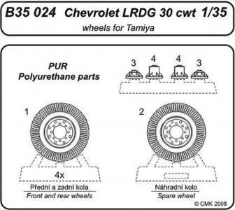 Chevrolet L.R.D.G 3cwt - Wheels [Tamiya] · CMK B35024 ·  CMK · 1:35