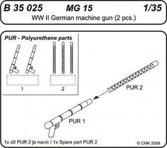 MG 15 German Machine Gun · CMK B35025 ·  CMK · 1:35