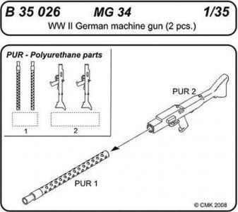 MG 34 German Machine gun · CMK B35026 ·  CMK · 1:35