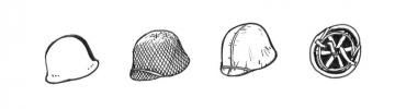 US WWII Helmets (6 Stück) · CMK B35083 ·  CMK · 1:35