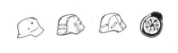 German WWII Helmets (6 Stück) · CMK B35085 ·  CMK · 1:35