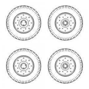 Chevrolet C.15A - Wheels small type 9x16 (Dunlop) · CMK B72040 ·  CMK · 1:72