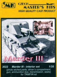 Marder III - Interior set · CMK C3022 ·  CMK · 1:35