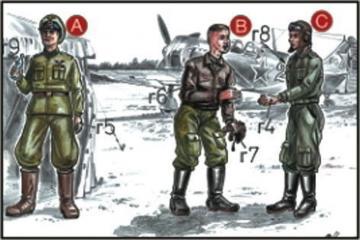 Sowjetische Piloten und Mechaniker · CMK CMF72047 ·  CMK · 1:72