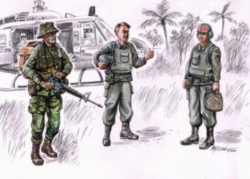 LRRP US Hubschrauber Besatzung Vietnam · CMK CMF72076 ·  CMK · 1:72