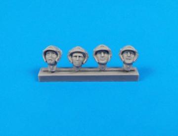 Universal Military Pilot Heads w/helmets (8 Stück) · CMK F32320 ·  CMK · 1:32