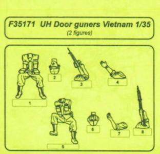 UH Door Gunners Vietnam Resin Figuren · CMK F35171 ·  CMK · 1:35