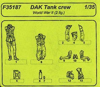 DAK tank crew · CMK F35187 ·  CMK · 1:35