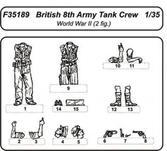 British 8.th Army Tank Crew · CMK F35189 ·  CMK · 1:35