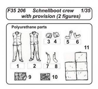 Schnellboot Crew with provision (2 Figuren) · CMK F35206 ·  CMK · 1:35