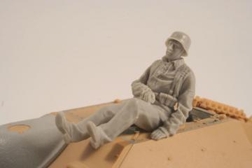 German WWII Hetzer Sitting Infanty man · CMK F35260 ·  CMK · 1:35