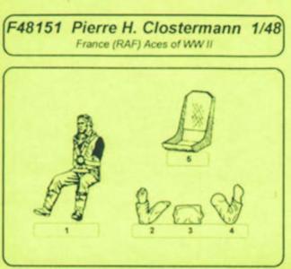 RAF Aces P. Clostermann · CMK F48151 ·  CMK · 1:48