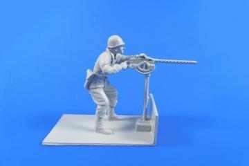 US Gunner with Browning M2 machine gun - M29 Weasel · CMK F48311 ·  CMK · 1:48