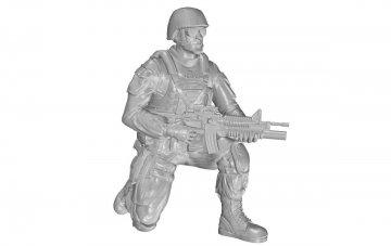 Kneeling Soldier(on right knee),US Army Infantry Squad 2nd Division · CMK F48331 ·  CMK · 1:48