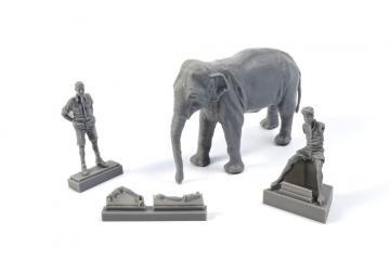 WWII RAF Mechanic in India + Elephant with Mahout (2 Figuren + Elephant) · CMK F48345 ·  CMK · 1:48