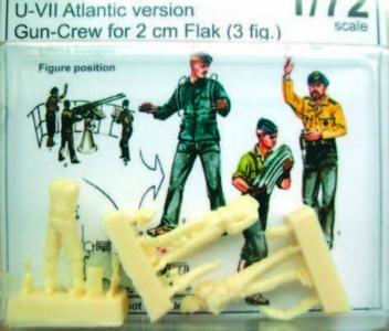 Gun-Crew für 2cm Flak U-VII Atlantic - Version · CMK F72184 ·  CMK · 1:72