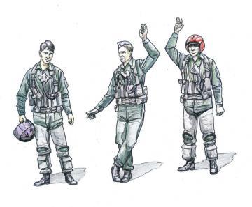 US NAVY Pilots modern (3 Figuren) · CMK F72230 ·  CMK · 1:72