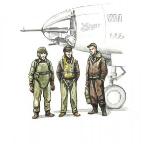 WWII US bomber pilot and two gunners · CMK F72339 ·  CMK · 1:72