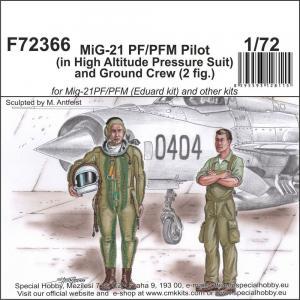 MiG-21 PF/PFM Pilot (in High Altitude Pressure Suit) and Ground Crew (2 fig.) · CMK F72366 ·  CMK · 1:72