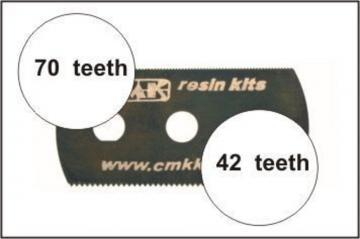 Sägeblatt, feine und grobe Zähne · CMK H1000 ·  CMK