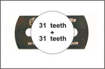 Sägeblatt, beidseitig grobe Zähne · CMK H1007 ·  CMK