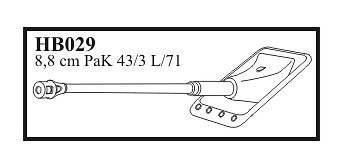 Kanonenrohr 8,8 cm PaK 43/3L/71 with early mantelt & muzzle , for Sd.Kfz.173 Jagdp · CMK HB35029 ·  CMK · 1:35