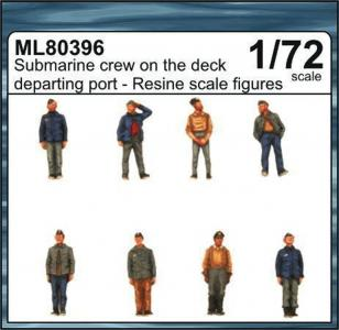 Submarine crew on the deck departing port · CMK ML80396 ·  CMK · 1:72