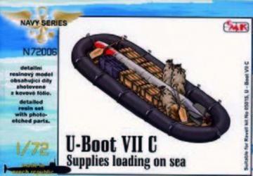 U-Boot VII - Supplies loading on sea (food, ammo boxes, boat, 1x torpedo) · CMK N72006 ·  CMK · 1:72