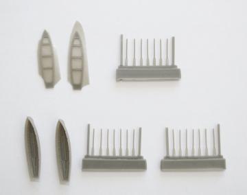 Bismarck - 6 m Cutter 2 Stück  [Trumpeter] · CMK NS015 ·  CMK · 1:200
