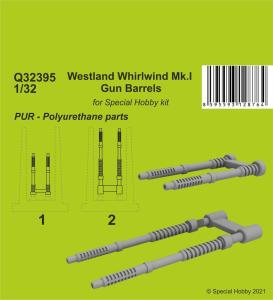 Westland Whirlwind Mk.I Gun Barrels · CMK Q32395 ·  CMK · 1:32