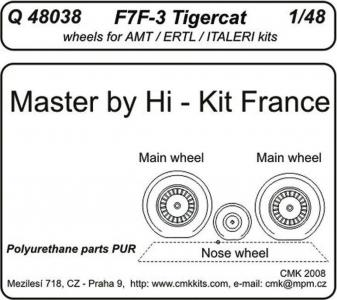 F7F-3 tigercat - Wheels [Revell] · CMK Q48038 ·  CMK · 1:48