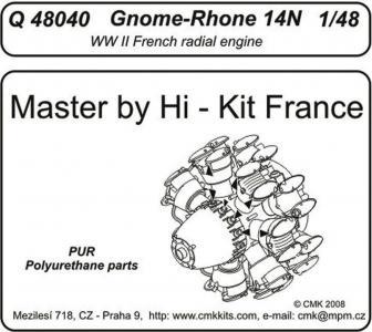Gnome-Rhone 14 N - Engine · CMK Q48040 ·  CMK · 1:48