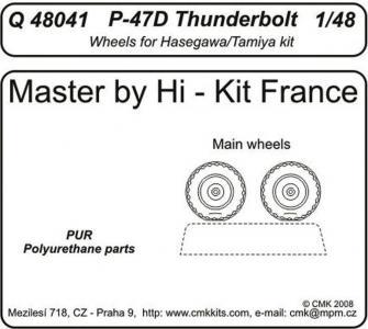 P-47D Thunderbolt - Wheels [Tamiya/Hasegawa] · CMK Q48041 ·  CMK · 1:48