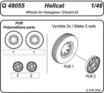 Hellcat - Wheels [Hasegawa/Eduard] · CMK Q48055 ·  CMK · 1:48