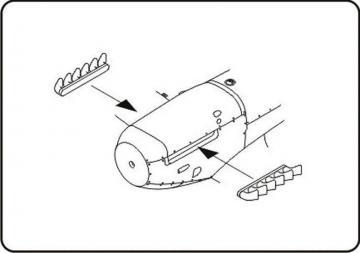 Spitfire Mk.V/Seafire Mk.III - Late six exhaust stubs [Hasegawa/Tamiya/Special Hobby] · CMK Q48061 ·  CMK · 1:48