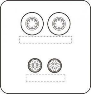 Hellcat - Wheels with moulded eight spoked discs [Hasegawa] · CMK Q48095 ·  CMK · 1:48