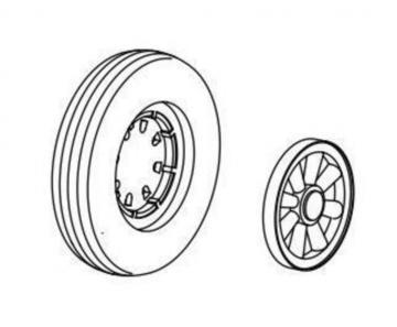 F6F Hellcat - Wheels with moulded eight · CMK Q48096 ·  CMK · 1:48