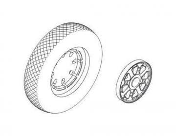 F4U Corsair - Wheels with plain discs and · CMK Q48097 ·  CMK · 1:48